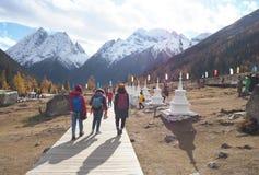 Siguniangshan National Park in Sichuan, China stock image