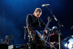 Sigur Ros band performs at Complejo Deportivo Cantarranas Royalty Free Stock Image