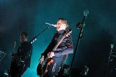 Sigur Ros,  Icelandic post-rock band from Reykjavik, performs at Sant Jordi Club Stock Image