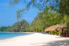 SIHANOUK VILLE Province het koninkrijk van Kambodja van het paradijsstrand van wonder Stock Foto's