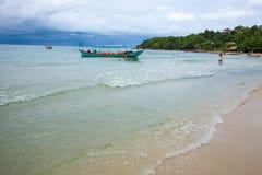 SIHANOUK VILLE Province het koninkrijk van Kambodja van het paradijsstrand van wonder Royalty-vrije Stock Foto's