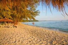 SIHANOUK VILLE Province le royaume du Cambodge de plage de paradis de la merveille Images stock