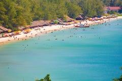 SIHANOUK VILLE Province the paradise beach Cambodia kingdom of wonder Royalty Free Stock Images