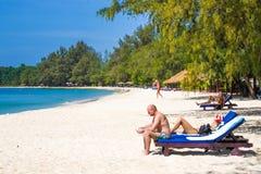 SIHANOUK VILLE prowincja raj plaży Kambodża królestwo cud Zdjęcia Royalty Free
