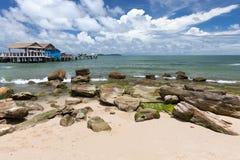 Sihanoukville beach, Cambodia Royalty Free Stock Photo