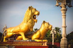 Sihanoukville Cambodia famous Lion Statue Royalty Free Stock Photo