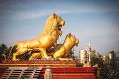 Sihanoukville Cambodia famous Lion Statue Stock Image