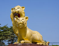 Sihanoukville, Kambodscha, berühmte Löwe-Statue Lizenzfreie Stockfotos