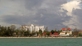 Sihanoukville before the storm. Royalty Free Stock Image