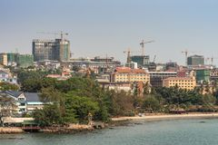 Sihanoukville turned into massive construction site, Cambodia
