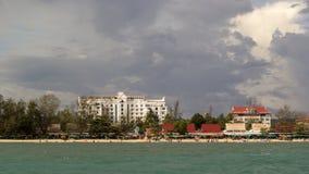 Sihanoukville vóór het onweer Royalty-vrije Stock Afbeelding