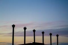 Sihlouettes печной трубы Стоковое Фото