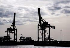 Sihouette των γερανών ι Στοκ εικόνα με δικαίωμα ελεύθερης χρήσης