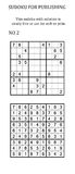 Sudoku with solution.  Stock Images