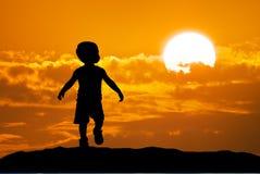 Sihouette del bambino Fotografie Stock Libere da Diritti