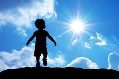 Sihouette del bambino Fotografia Stock