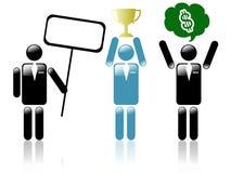 Sihouette della gente di affari Immagine Stock