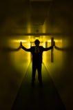 Sihouette giallo Immagine Stock