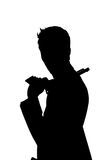 Sihouette man Royaltyfri Foto