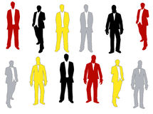 Sihouettes dos homens ilustração royalty free