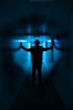 Sihoutte azul imagem de stock royalty free