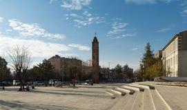 Siirt stadssikt av stadsfyrkanten arkivbild