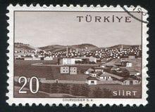 Siirt. TURKEY - CIRCA 1959: stamp printed by Turkey, shows Turkish city, Siirt, circa 1959 Stock Photos