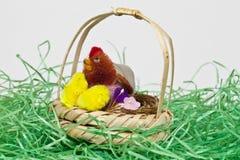 Siiting in het nest Stock Foto