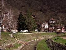 Sijarinska banja, spa, health resort in South Serbia. Sijarinska banja is medical sanatorium with thermal spring Stock Photos
