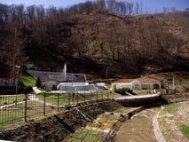 Sijarinska banja, spa, health resort in South Serbia, geyser. Sijarinska banja is medical sanatorium with thermal spring Stock Images