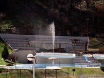Sijarinska banja, spa, health resort in South Serbia, geyser. Sijarinska banja is medical sanatorium with thermal spring Royalty Free Stock Photo