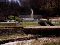 Sijarinska banja, spa, health resort in South Serbia, Geyser. Sijarinska banja is medical sanatorium with thermal spring. Hotel Geyser is only hotel in this Stock Images