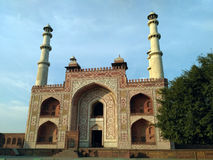 Sikandra Akbar`s tomb front view. Front view of Akbar the great tomb royalty free stock photo
