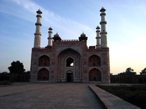 Sikandra angled view. View of Sikandra the tomb of great akbar stock photography