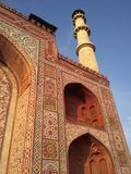 Sikandra close up with one tower. Pinture of close up of Sikandra Royalty Free Stock Photos
