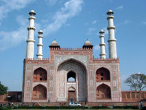 Sikandra Gatway, Agra, India. Sikandra Gatway, Agra Tomb of Akbar, Mughal emperor Royalty Free Stock Photo