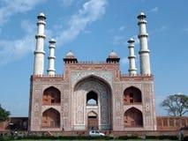 Sikandra Gatway, Agra, Indien Lizenzfreies Stockfoto