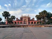 Sikandra grave tomb front view. Grave tomb of akbar the great Royalty Free Stock Photos