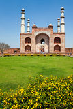 Sikandra Site. Vertical view of the entrance to the Sikandra in Agra, India, where Mughal Emperor Akbar the Great is buried Royalty Free Stock Photo
