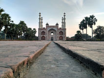 Sikandra view from a distance. View of Sikandra inside view located in Agra Utter Pradesh stock photo