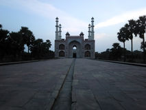 Sikandra view from inside veranda. Picture of Sikandra the tomb of great akbar royalty free stock photo