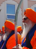 Sikhältestes an Vaisakhi-Feier Lizenzfreie Stockfotos