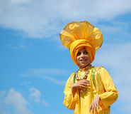 Sikh Boy dancing Royalty Free Stock Photo