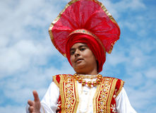 Sikh Boy With Red Turban Royalty Free Stock Photography