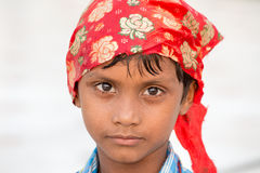 Sikh boy visiting the Golden Temple in Amritsar, Punjab, India. Stock Photos