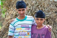 Sikh boys royalty free stock photos