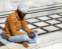 Sikh devotee Stock Photography