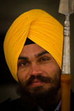A Sikh devotee of The Golden Temple of Amritsar, Punjab, India Stock Photos