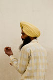 A Sikh devotee of The Golden Temple of Amritsar, Punjab, India Royalty Free Stock Photos