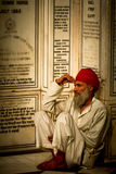 A Sikh devotee of The Golden Temple of Amritsar, Punjab, India Stock Photography